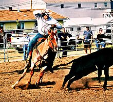 team roping by Heath Dreger