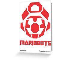 Mariobots! (RED) Greeting Card