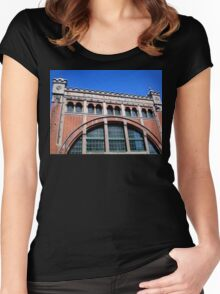 Power Station Façade, Malmo, Sweden Women's Fitted Scoop T-Shirt