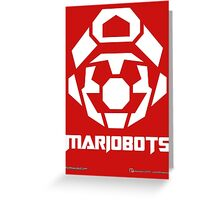 Mariobots! [White (on red)] Greeting Card