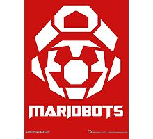 Mariobots! [White (on red)] Photographic Print