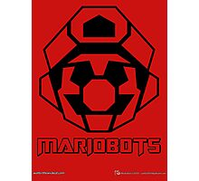 Mariobots! (Outline on red) Photographic Print