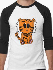 Tiger Chibi Men's Baseball ¾ T-Shirt