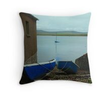 Orkney Blues Throw Pillow