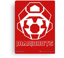 Mariobots! (White Outline on Red) Canvas Print