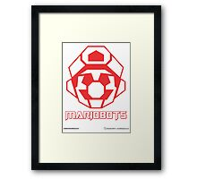 Mariobots! (Red Outline on White) Framed Print