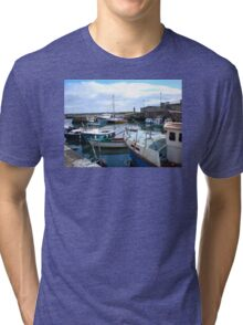 Carnlough Harbour, County Antrim, Northern Ireland Tri-blend T-Shirt