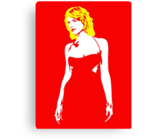Cylon babe T shirt Canvas Print