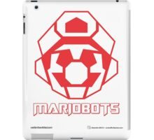 Mariobots! (Red Outline on White) iPad Case/Skin