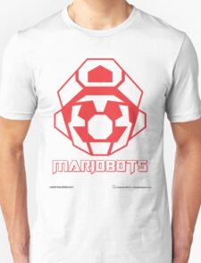 Mariobots! (Red Outline on White) T-Shirt