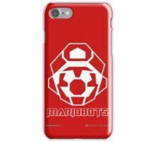 Mariobots! (White Outline on Red) iPhone Case/Skin