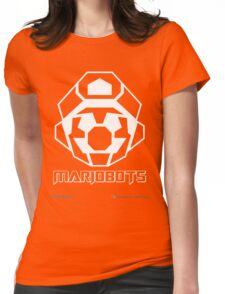Mariobots! (White Outline on Red) Womens Fitted T-Shirt