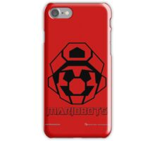 Mariobots! (Outline on red) iPhone Case/Skin