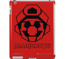 Mariobots! (Outline on red) iPad Case/Skin