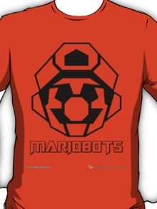 Mariobots! (Outline on red) T-Shirt