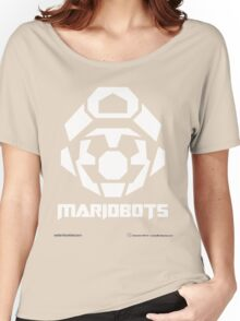 Mariobots! [White (on red)] Women's Relaxed Fit T-Shirt