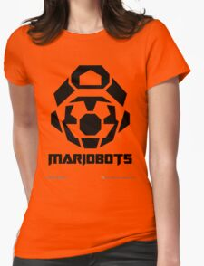 Mariobots! [Black (on red)] Womens Fitted T-Shirt