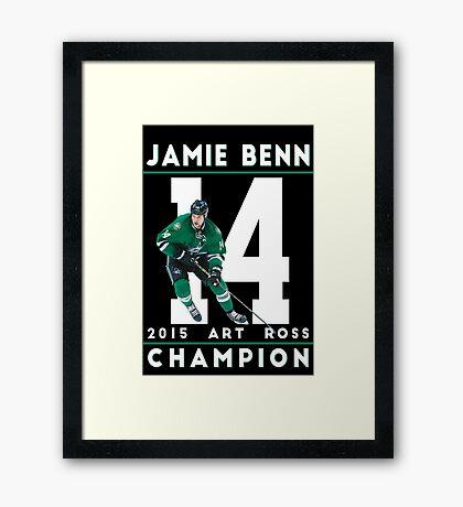 Jamie Benn 2015 Art Ross Champion Framed Print