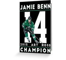 Jamie Benn 2015 Art Ross Champion Greeting Card