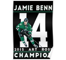 Jamie Benn 2015 Art Ross Champion Poster