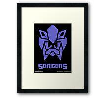 Sonicons! (BLUE) Framed Print
