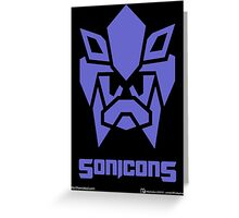 Sonicons! (BLUE) Greeting Card