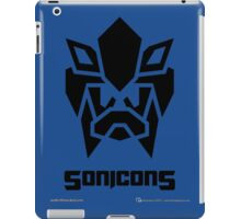 Sonicons! (Black on Blue) iPad Case/Skin