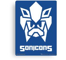 Sonicons! (White on Blue) Canvas Print