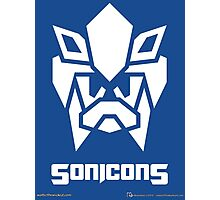 Sonicons! (White on Blue) Photographic Print
