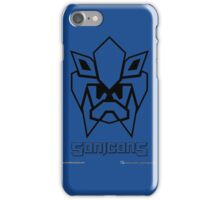 Sonicons! (Black Outline on Blue) iPhone Case/Skin