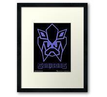 Sonicons! (Blue Outline on Black) Framed Print