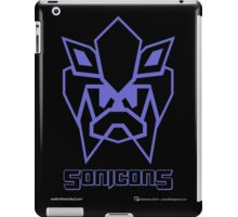 Sonicons! (Blue Outline on Black) iPad Case/Skin