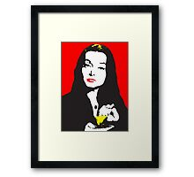 Morticia addams Framed Print
