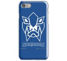 Sonicons! (White Outline on Blue) iPhone Case/Skin
