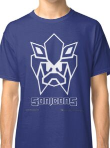 Sonicons! (White Outline on Blue) Classic T-Shirt