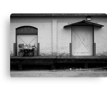 A Tractor and a Door  Canvas Print