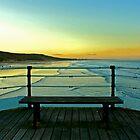 Saltburn Pier at Sunset. by Richard Leeson