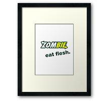 Zombie eat flesh. Framed Print