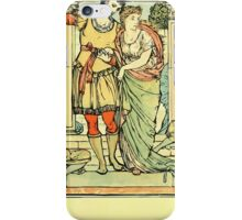The Sleeping Beauty Picture Book Plate - He Led Her from the Hall iPhone Case/Skin
