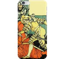 The Sleeping Beauty Picture Book Plate - Bluebeard - The Cut The Murderer Down iPhone Case/Skin