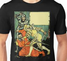 The Sleeping Beauty Picture Book Plate - Bluebeard - The Cut The Murderer Down Unisex T-Shirt