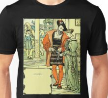 The Sleeping Beauty Picture Book Plate - Bluebeard - A lady he contrived at last to induce to be his wife Unisex T-Shirt