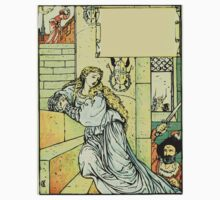 The Sleeping Beauty Picture Book Plate - Bluebeard - Come Down, Time Is Up One Piece - Short Sleeve