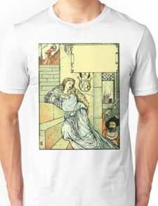The Sleeping Beauty Picture Book Plate - Bluebeard - Come Down, Time Is Up Unisex T-Shirt