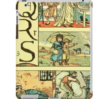 The Sleeping Beauty Picture Book Plate - The Baby's Own Alphabet - Qq Rr Ss iPad Case/Skin