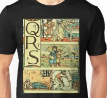 The Sleeping Beauty Picture Book Plate - The Baby's Own Alphabet - Qq Rr Ss Unisex T-Shirt