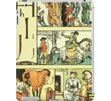 The Sleeping Beauty Picture Book Plate - The Baby's Own Alphabet - Hh Ii Jj iPad Case/Skin