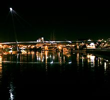 Stockton Riverside at Night. by Richard Leeson