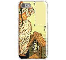 The Sleeping Beauty Picture Book Plate - Bluebeard - O Sister Anne, Go Up, Go Up, And Look Out From The Tower iPhone Case/Skin