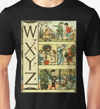 The Sleeping Beauty Picture Book Plate - The Baby's Own Alphabet - Ww Xx Yy Zz Unisex T-Shirt